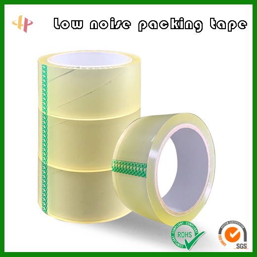 Silent tape for packaging, high quality and low noise packaging tape